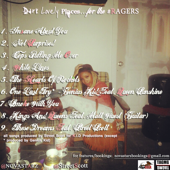 Dark Lovely Spaces for the Ragers Tracklist